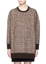 Neil Barrett Oversized Tweed Pullover Brown