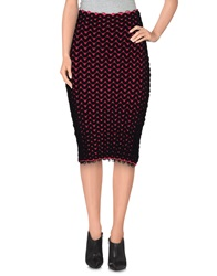 Mark Fast Knee Length Skirts Black