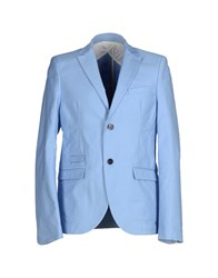 Officina 36 Suits And Jackets Blazers Men Sky Blue
