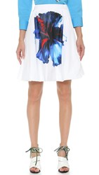 Dsquared Hibiscus Skirt White