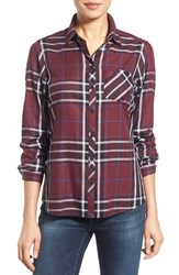 Foxcroft Petite Women's Herringbone Plaid Cotton Shirt Black Multi
