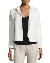 Vince Frayed Trim Boucle Jacket Women's Size 14 Off White