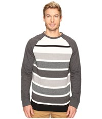 Nautica Long Sleeve Sweater Front Crew Charcoal Heather Men's Sweater Gray