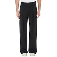 Off White C O Virgil Abloh Men's Twill Pleated Trousers Blue