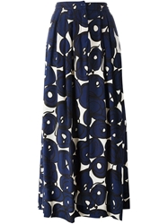 Eggs Stylized Print Pleated Skirt