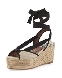 Tabitha Simmons Logan Canvas Ankle Wrap Espadrille Natural