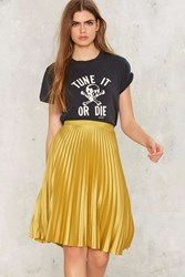 Maison Scotch Golden Years Pleated Skirt Yellow