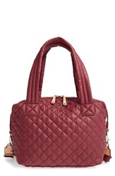 M Z Wallace Mz 'Medium Sutton' Quilted Oxford Nylon Shoulder Tote Burgundy Maroon