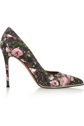 Givenchy Floral Print Leather Pumps