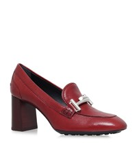 Tod's Gomma Buckle Pumps 70 Female Red