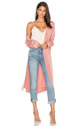 L'academie X Revolve The Silk Robe Pink