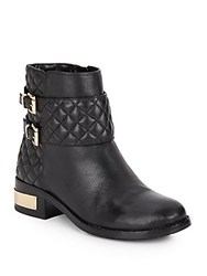 Vince Camuto Winta Quilted Leather Booties Black