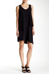 Lilla P Stretch Jersey Double Layer Tank Dress Black