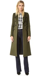 Veronica Beard Voyager Faux Slim Coat Army Green