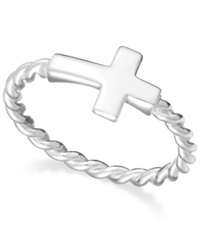 Giani Bernini Twist Cross Ring In Sterling Silver