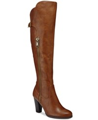 Rialto Violet Over The Knee Dress Boots Women's Shoes Cognac
