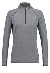 Asics Sports Shirt Dark Grey Heather Dark Gray