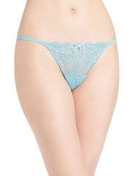 Le Mystere Sophia Lace Trimmed Thong Waterfall