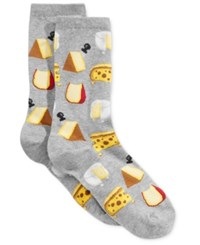 Hot Sox Women's Cheese Socks Sweatshirt Grey Heather