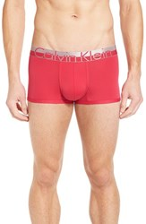 Calvin Klein Men's 'Magnetic Force' Microfiber Low Rise Trunks Deep Pink