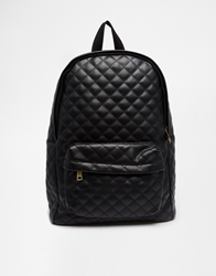 Pull And Bear Pullandbear Quilted Backpack