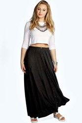 Boohoo Button Through Maxi Skirt Black
