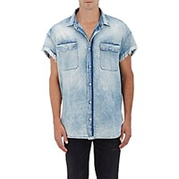 R 13 R13 Men's Denim Cutoff Shirt Blue Light Blue Blue Light Blue