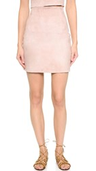 Theperfext Suede High Waisted Miniskirt Dusty Rose