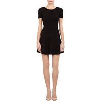 Theory Knit Mollia Dress Black