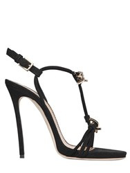 Dsquared 120Mm Barbed Wire Suede Sandals