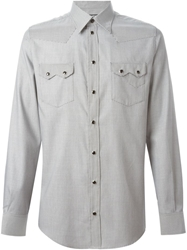 Dolce And Gabbana Printed Shirt Grey