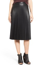 Trouve Women's Faux Leather Pleat Skirt