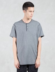 Reigning Champ Tiger Jersey S S Henley T Shirt