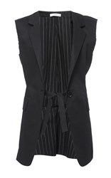 Tome Sleeveless Blazer Black