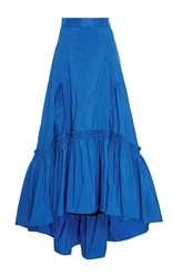 Peter Pilotto Bright Blue Taffeta Long Skirt