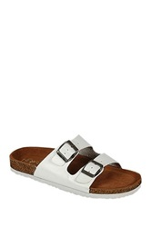 Refresh Leo Double Strap Sandal White