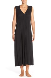 Oscar De La Renta Sleepwear Ruched Nightgown Black