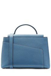 Valextra Leather Tote Blue
