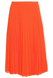 New Look Petite Cherry Pleated Skirt Burnt Orange