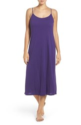 Natori Women's 'Shangri La' Scooped Back Knit Gown Royal Purple