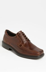 Men's Ecco 'Helsinki' Square Bike Toe Oxford Cocoa Brown