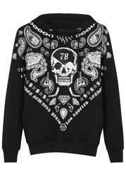 Philipp Plein Duck Key Embellished Printed Sweatshirt Black