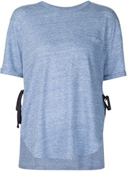 Derek Lam 10 Crosby Ribbon Detail T Shirt Blue