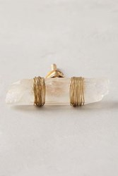 Anthropologie Wrapped Agate Knob Clear