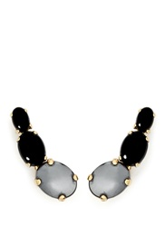 Ela Stone 'Lior' Graduating Stone Earrings Black
