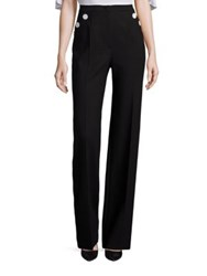 Escada Button Detail Wool Pants Black