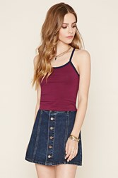 Forever 21 Cutout Striped Cropped Cami