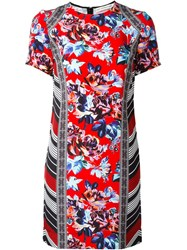 Mary Katrantzou Rose Print Dress Red