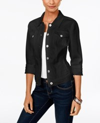 Styleandco. Style Co. Petite Black Rinse Denim Jacket Only At Macy's