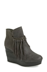 Women's Sbicca 'Zepp' Fringe Bootie Grey Faux Leather